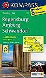 Regensburg - Amberg - Schwandorf: Wanderkarte mit Aktiv Guide und Radwegen. GPS-genau. 1:50000: Wandelkaart 1:50 000 (KOMPASS-Wanderkarten, Band 176) -
