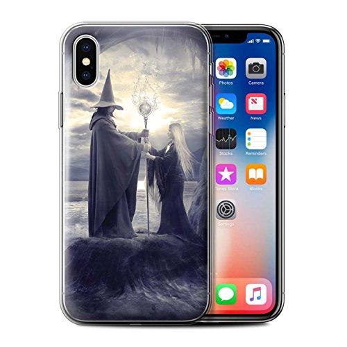 Offiziell Elena Dudina Hülle / Gel TPU Case für Apple iPhone X/10 / Schlafwandler Muster / Dunkel Magie Kollektion El Maestro/Wizard