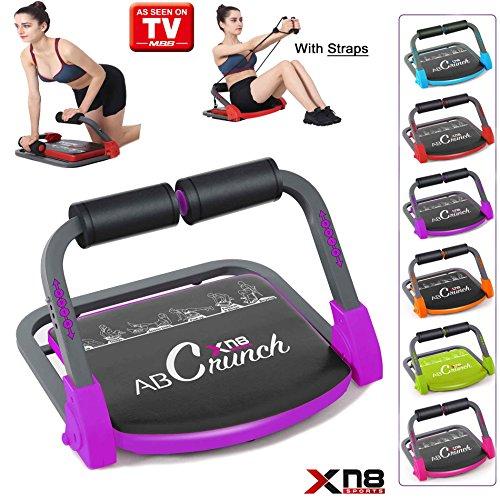 Xn8 ABS Core Smart Body Máquina de ejercicio fitness Trainer AB toning entrenamiento gimnasio hogar equipo, morado