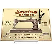 Reloj de escritorio Art Deco Máquina de coser Decoración Retro