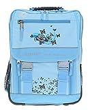 ELEPHANT Schulrucksack XL Rucksack + Federmäppchen XL (Butterfly Hellblau)