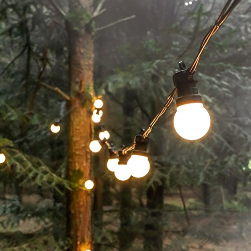 Festive Lights Outdoor Festoons (5m, Frosted Bulbs)
