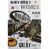 Rugby kit Ball and Boots Design Birthday Card by Jonny Javelin