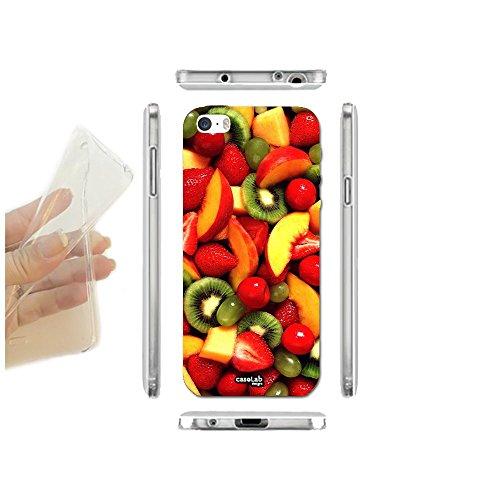CASELABDESIGNS COVER CUSTODIA MORBIDA IMAGE FRUTTA PER IPHONE 5 5S TPU - SCOCCA IN SILICONE PROTETTIVA ANTIURTO - Cinque Frutti