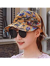 Willsego Sombrero de Mujer Ms Cap Primavera Verano Gasa con Capucha Sombrero  para el Sol Visera a38a6de8432