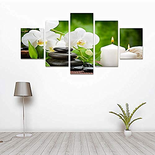 g Wall Oil Painting Printed Modern Flower Modular Poster Framless Picture for Living Room Home Decor 40X60Cmx2 40X100Cmx1 40X80Cmx2@20x35cmx2_20x55cmx1_20x45cmx2 ()