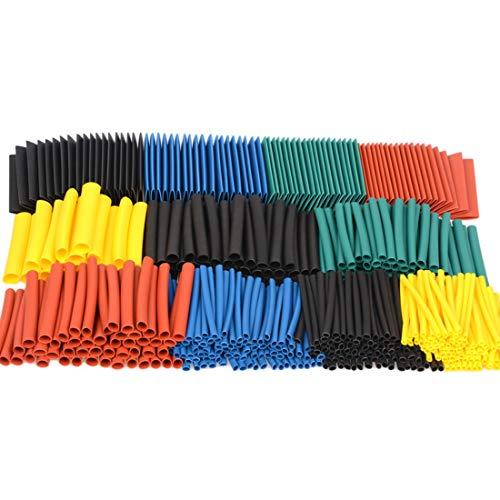 HOUYAZHAN 580 pcs 2: 1 Tube De Thermorétractable 6 Couleurs 11 Tailles Ensemble De Tuyauterie Assortiment Assorti Gaine Wrap Câble Kit de Fil pour DIY (Size : 530pcs)