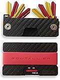 -NEU- GOUTALLIER ® Carbon Kreditkartenetui + Schlüsselorganizer im SET - slim-wallet + 3 Bänder mit passendem key-holder