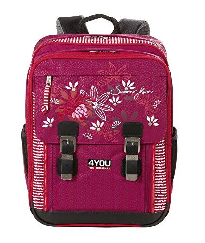 4 You Limited Edition 38 Schulrucksack Classic Plus mit Laptopfach 43 cm Summer Flower