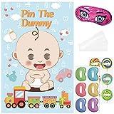 Amosfun Baby Shower Spiele Pin The Dummy Spiel Wiederverwendbare Baby Shower Party Favors Poster 81 x 53 cm