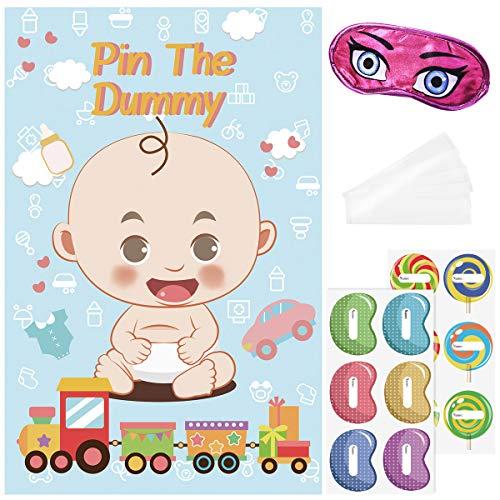 by Shower Spiele Pin The Dummy Spiel Wiederverwendbare Baby Shower Party Favors 81x53 cm ()