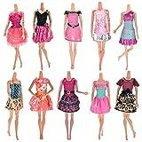 Ropa Y Accesorios Best Deals - BESTIM INCUK® 10 piezas/paquete Muñeca ropa hecha a mano fiesta vestido de boda de ropa trajes para Regalo de cumpleaños de la niña de la muñeca de Barbie