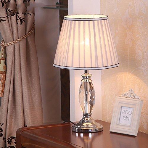 XHOPOS HOME Lámpara de mesa lámpara de escritorio moderno y minimalista dormitorio Luces de lectura en la mesilla de noche lámparas de cristal decoración de botón