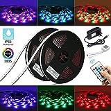 Elfeland LED Streifen 10M LED Strip Stripes RGB 540 Leds 2835SMD LED Band Lichtband Bänder Hintergrundbeleuchtung Lichtstreifen mit Fernbedienung IP65 Selbstklebend Innen außen Beleuchtung Full Kit