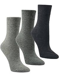 6 PAAR Damen Luxus-Socken Strümpfe Söckchen ohne Gummi Baumwolle mit Elasthan