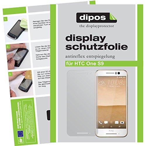 dipos I 2X Schutzfolie matt passend für HTC One S9 Folie Bildschirmschutzfolie