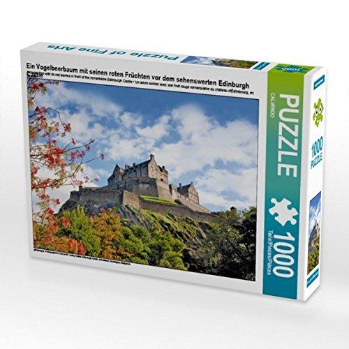 Culzean Castle (Ein Vogelbeerbaum mit seinen roten Früchten vor dem sehenswerten Edinburgh Castle 1000 Teile Puzzle quer)