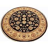Runder Orient Teppich Ziegler ca. 213 cm Ø Schwarz - feine Qualität - moderner Teppich - oriental round carpet Zigler best quality