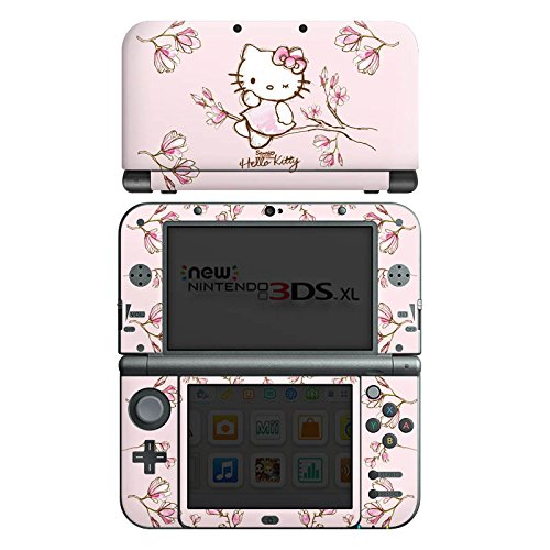 Nintendo New 3DS XL Case Skin Sticker aus Vinyl-Folie Aufkleber Hello Kitty Merchandise Fanartikel Magnolia