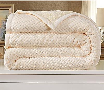 mantas de color sólido/ mantas de doble gruesos/Doble toalla en invierno/Manta/ doble manta/ manta