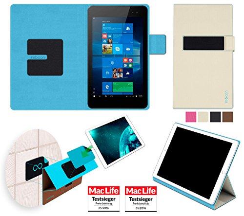 reboon Hewlett Packard Envy 8 Note Hülle Tasche Cover Case Bumper   in Beige   Testsieger
