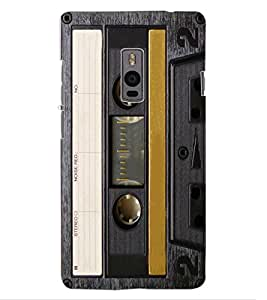 ColourCraft Retro Audio Cassette Design Back Case Cover for OnePlus Two