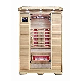 Home Deluxe - Infrarotkabine - Redsun M - Keramikstrahler - Holz: Hemlocktanne - Maße: 120 x 105 x 190 cm - inkl. vielen Extras und komplettem Zubehör