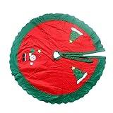 Aiming Albero di natale di Natale Albero di cerchio Circle Babbo Natale Pattern Decorazione Grembiule Wrap rosso e verde