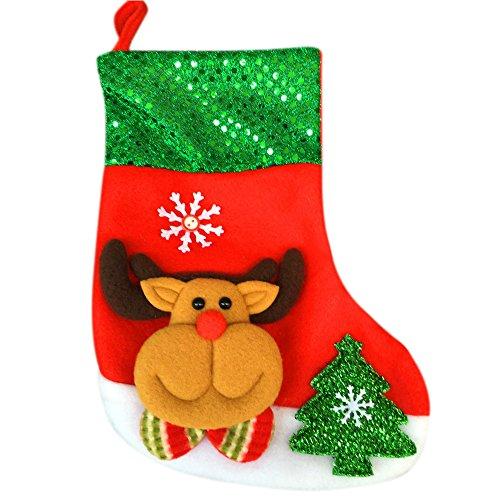 Goosuny Weihnachtsmann Geschenktasche Weihnachten Socken Kurzsocken Hängendes Deko Schön Weihnachtsstrumpf Weihnachtsschmuck Christbaumschmuck