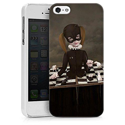 Apple iPhone X Silikon Hülle Case Schutzhülle Schach Maske Mädchen Girl Hard Case weiß
