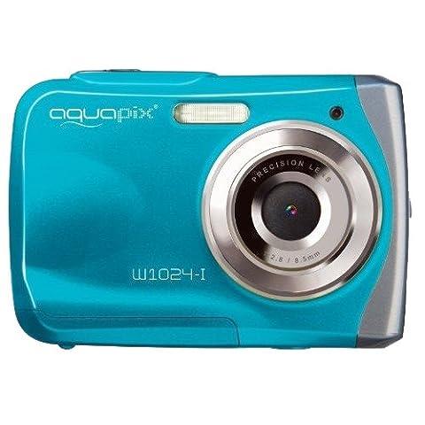 Easypix W1024-I Splash Digital Camera - Ice Blue (10MP Sensor, 4x Digital Zoom, VGA Video with Sound) 2.4 inch TFT