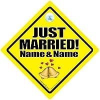 Just Married personalizzato per auto con scritta
