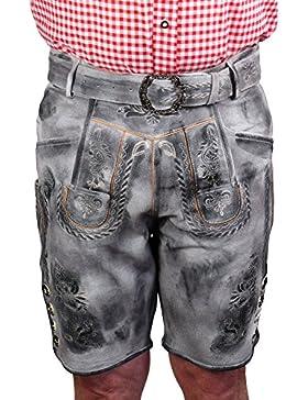 Harrys-Collection Kurze Kurze Trachten Lederhose urig speckig Vintage Leder Oktoberfest Trachtenhose