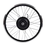 Bnineteenteam Kit Ruote Bici elettriche 36V / 48V 350W, Display a LED Kit Ruote Bici Anteriori e Posteriori 700C per Bici da Corsa(Motore Anteriore)