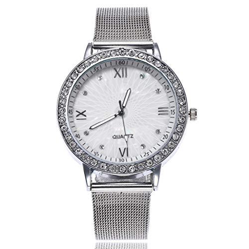 Lazzgirl Art- und Weisefrauen beiläufige Uhr-analoge Quarz-Armbanduhr(Silber,One Size) - Uhr Militär Herren Seiko