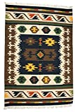 Raw-Amber Handloom Dhurrie from Sitapur with Woven Kilim Motifs - Pure Wool