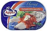 Heringsfilets, zarte Fisch-Filets Tomate-Mozzarella, MSC zertifiziert, 200g
