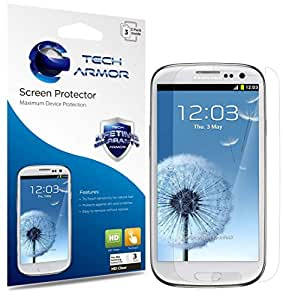 Tech Armor Premium High Definition Clear Screen Protectors with Lifetime Replacement Warranty for Samsung Galaxy S3 (Pack of 3)