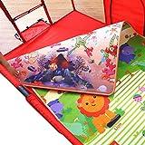 Laufgitter Baby Laufstall mit Pad, Kleinkind Tragbarer Spielplatz Korb Design Sicherheitszaun Sicherheit für Kinder Aktivitätszentrum, rot (Größe optional) (größe : 120x100cm)
