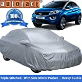 #2: Autofact Tata Nexon Premium Silver Matty Triple Stitched Car Body Cover with Mirror Pocket