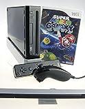 Nintendo Wii Konsole in schwarz mit Super Mario Galaxy