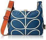 Orla Kiely Women's Giant Linear Stem Mini Sling Bag Shoulder Bag Blue (Marine)