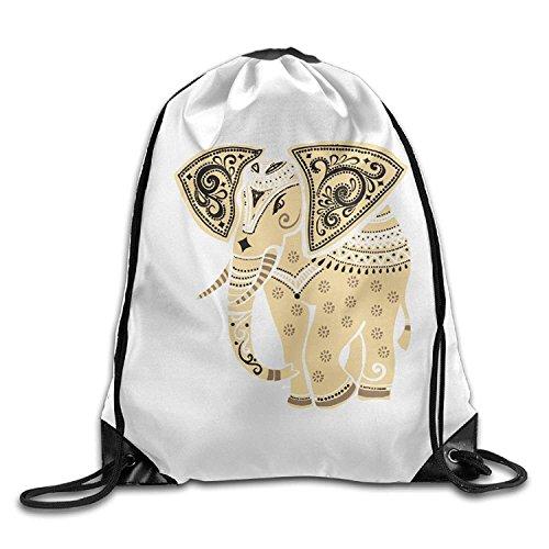 Pgtry zaino/borsa morbida elefante motivo halloween unisex palestra borsa a tracolla string bags