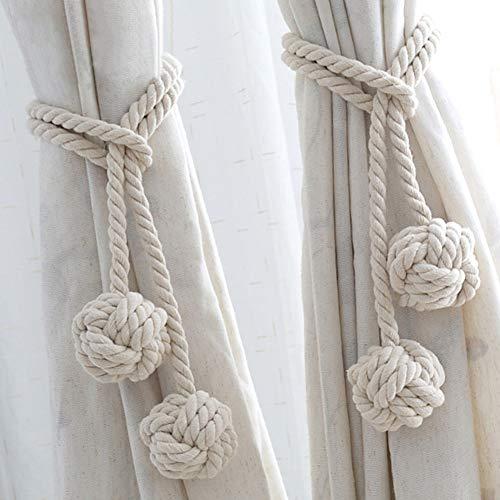 1pair borla cortinas pompón tejer cortina cuerda
