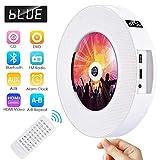 Lettore DVD Bluetooth portatile Gueray Lettore CD / DVD montabile a parete con Full HD 1080p e telecomando per bambini Studenti Altoparlante HiFi integrato Radio FM USB Uscita HDMI