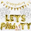Dog Birthday Decorations,Party Banner Decorative Happy Birthday Letter Banner with Dog Cat Birthday by Legendog