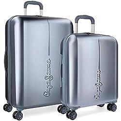 Pepe Jeans 5418966 Cambridge Juego de maletas, 115 litros, 70 cm, Azul