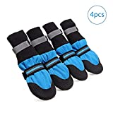 4 Pcs Dog Boots, Breathable Dog Hiking Boots, Non Slip Doggie Puppy Shoes
