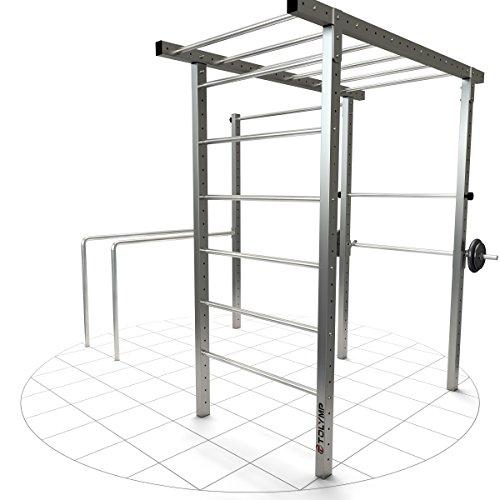 Crossfit-Anlage TOLYMP® Cross Hangelleiter, Monkey-Bar und Klimmzugstange für Ihren perfekten Outdoor-Workout im eigenen Garten