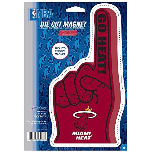 Kühlschrank Vinyl Cover (Wincraft Snack-Schale Miami Heat Offizielle NBA 15,2x 22,9cm Auto-Magnet von 932310)